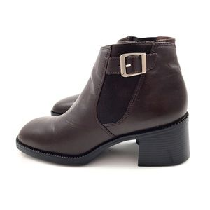 90's Brazilian brown leather ankle boots